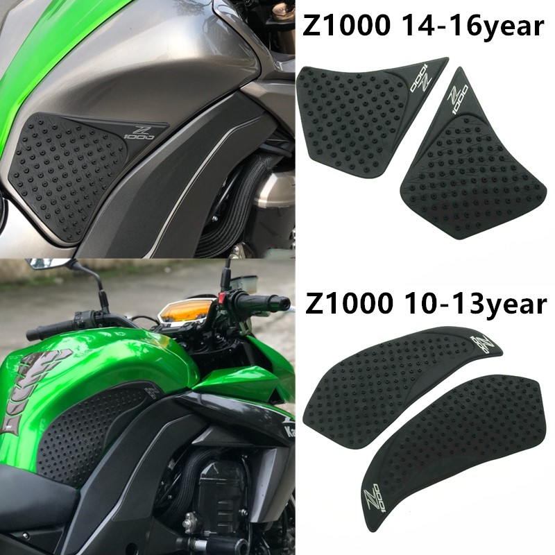 For Kawasaki Z1000 Z 1000 2010-2016 Year Motorcycle Tank Pad Protector Sticker Decal Gas Knee Grip Tank Traction Pad Side