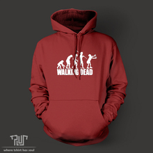 Walking dead zombie evolution men unisex pullover hoodie heavy hooded sweatershirt cotton with fleece inside free shipping