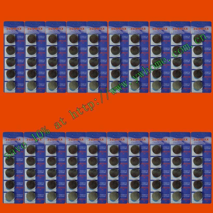 100 pièces CR2330 BATTERIES AU LITHIUM 3 V EXPÉDIER par courrier aérien