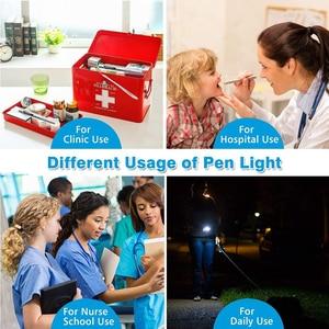 Image 5 - Akumulatorowa lampa LED latarka Pen light MINI latarka Cool white + ciepłe białe światło z kabel do ładowania USB używany do biwakowania, lekarze