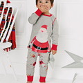 2017 new autumn and winter Europe and the Americas cotton Cartoon long-sleeved knit Christmas pajamas 2 pieces set free shipping