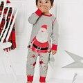 2017 outono e inverno nova Europa e as Américas algodão Dos Desenhos Animados de longa-malha de mangas compridas pijama de Natal 2 peças conjunto frete grátis
