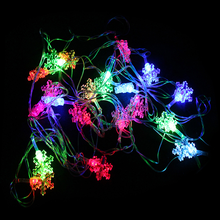 EU Plug LED Light String RGB Lights Christmas Decoration Gifts 4.5 Meters LED Snowflake Lights Christmas Tree Lights String
