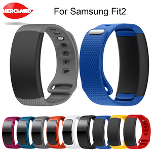 Image 1 - Watch band 2017 Luxury sport Silicone Watch Replacement wrist Band bracelet Strap For Samsung Gear Fit 2 SM R360 watch Wristband