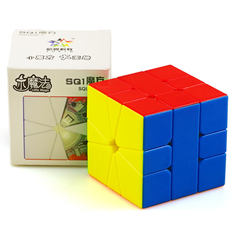 Yuxin Pouco de Magia SQ1 Cubo Magnético Quadrado-1 3 Camadas Cubo de Velocidade Cubo Mágico Magnético Puzzle Brinquedo Profissional Para presente das crianças
