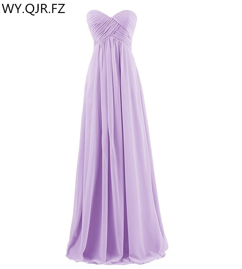 LLY-ZS#Ball Gown Purple Orange Strapless Long Bridesmaids Dresses Bride Wedding Toast Dress Cheap Wholesale Custom Women Fashion