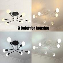 Simple post modern LED Ceiling Light White black gold bar stair foyer living dining room hanging ceiling lamp iron E27