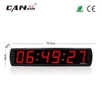 [Ganxin]4'' 6 Digits Large Screen Big Alarm Clock Led 12/24H Time Display