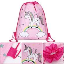 Unicorn Patterned Drawstring Bag