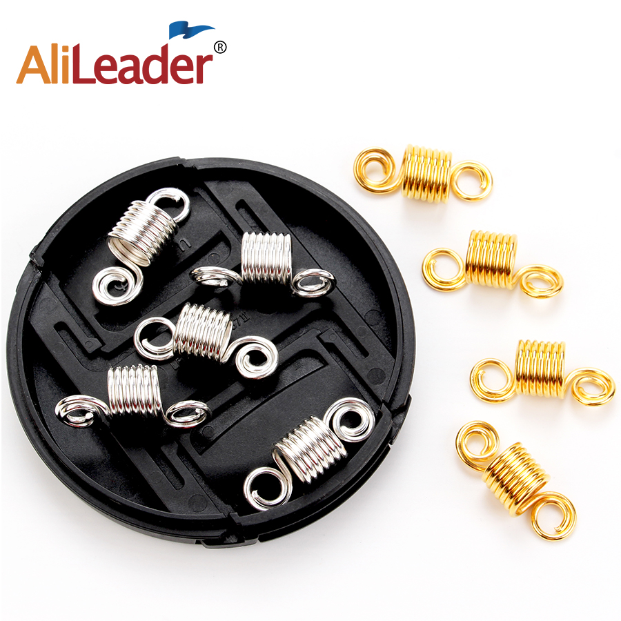 Alileader New Product Rings For Hair Braids Micro Bead Hair Extensions Silver Hair Beads Microlinks For Dread Locks 20Pcs/Lot