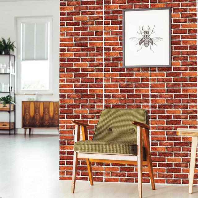 3d wall decor rustic red brick stone wall decals self adhesive home