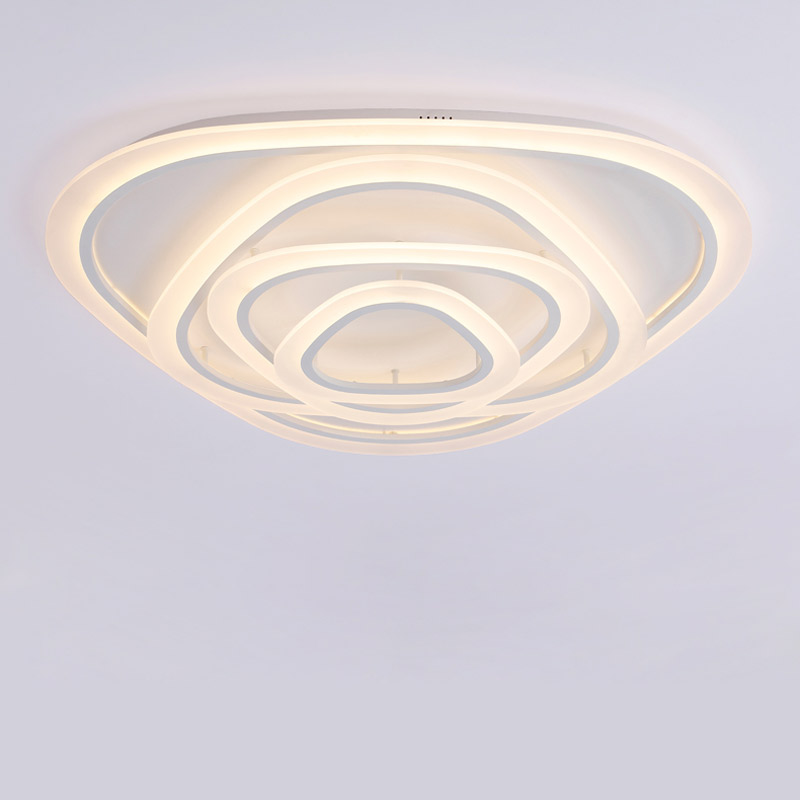 Acrylic Led Ceiling Light Fixtures With Remote Control Lamp Modern Living Room Bedroom Kitchen Decor Home Lighting Lustre 220V in Ceiling Lights from Lights Lighting