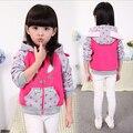 Ropa de los niños niñas visten sudaderas con capucha bebé conejo de Dibujos Animados elsa animado lagunas, Además de terciopelo grueso ropa de los niños