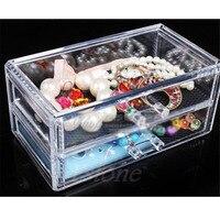 THINKTHENDO Clear Acrylic Cosmetic Makeup Case Organizer Holder Drawers Jewelry Storage Box