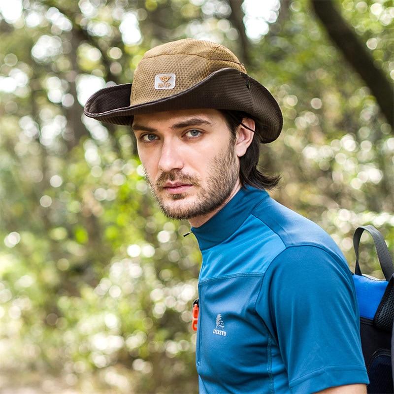 2015 New Summer Fashion Camping Hiking Fishing Outdoor Bucket Hat Cap Mens  Hats Sun Casual Caps 1244977bae4