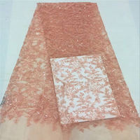 African Lace Fabric French Tulle Lace Fabric With Shiny Sequins And Beads 5 Yards Per Lot Net Lace Wedding Dress lace 30