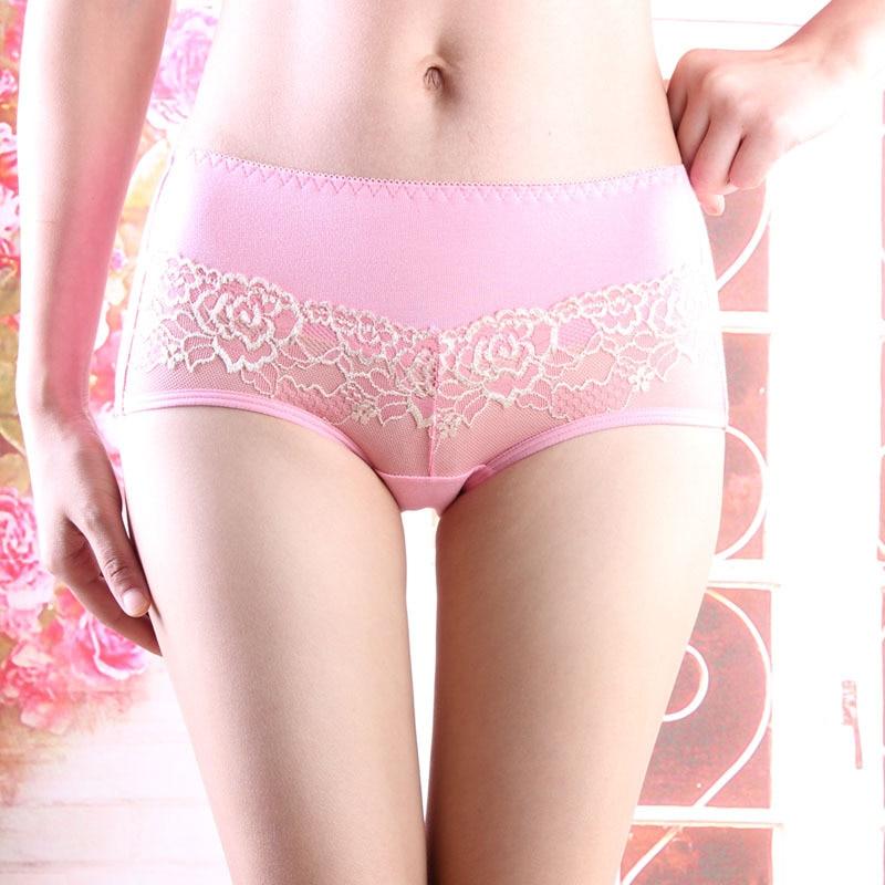 Aliexpress.com : Buy Ladies Cotton Panties waist lace cotton ...