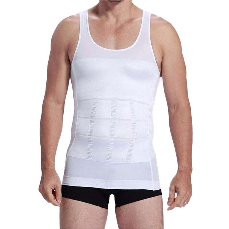 Men Shaper Fitness Body Waist Belt Shirt Shape Comfort Slimming Protective Vest Corset Shaper Underwear S-XXXL