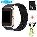 Gt08 smart watch relógio com slot para cartão sim empurre mensagem conectividade bluetooth android v8 inteligente smartwatch dz09 telefone pk