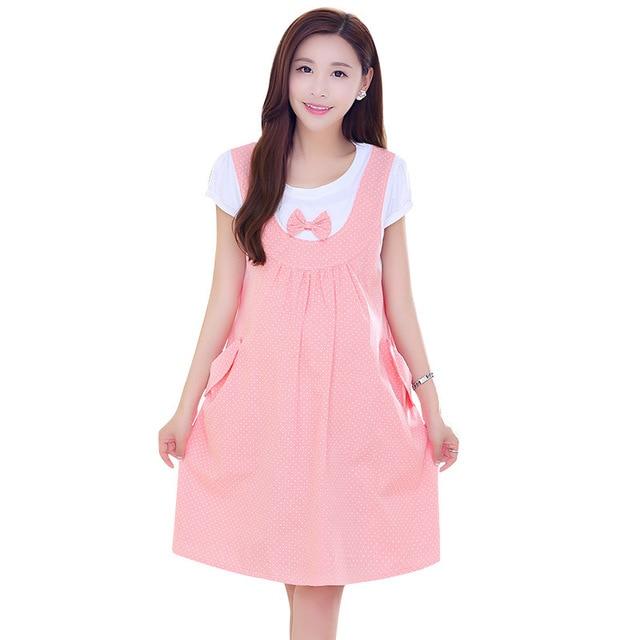 9a83e9d93 Dulce Rosa Arquean el Vestido De Maternidad de Moda de VERANO Vestidos de  Lunares de Manga