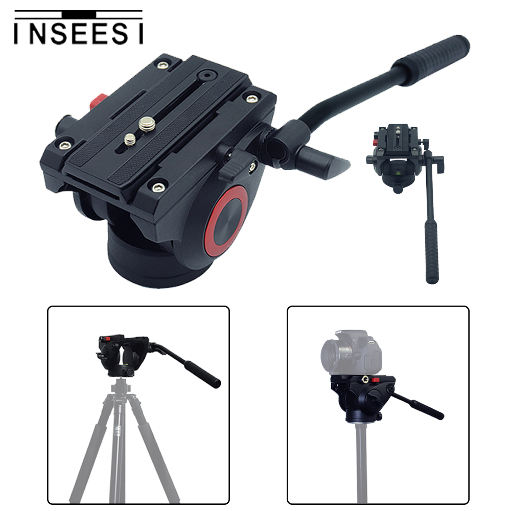 Pixel Aluminum Alloy Fluid Head Tripod Head photography The Camera Holder Tripod Camcorder For DSLR Nikon Canon Sony Camera aluminium alloy professional camera tripod flexible dslr video monopod for photography with head suitable for 65mm bowl size