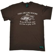 Fishing Tee - Fish Are Like Boobs - Rude Adult fish rod funny Birthday T-SHIRT(China)