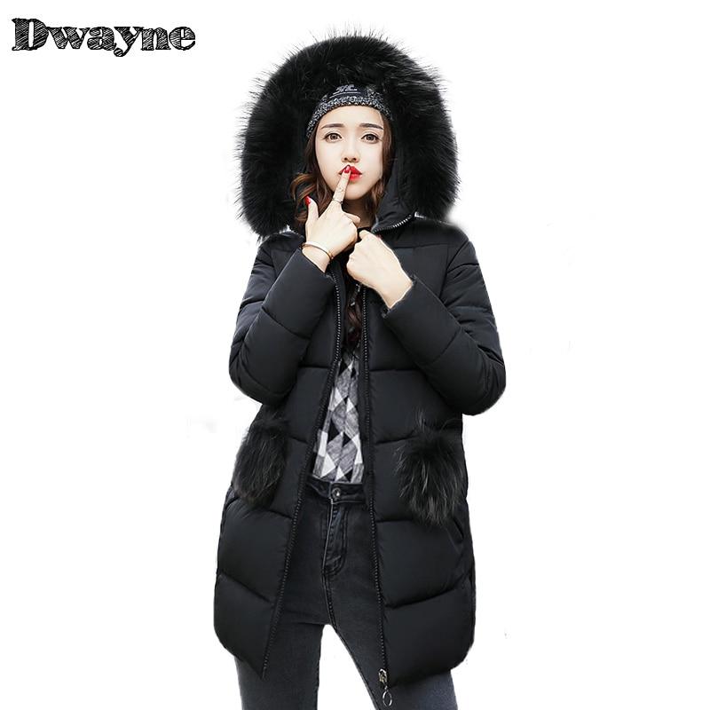 Fake fur collar downParka cotton jacket 2017 Winter Jacket Women thick Snow Wear Coat Lady Clothing Female Jackets Parkas M-XXXL цены онлайн