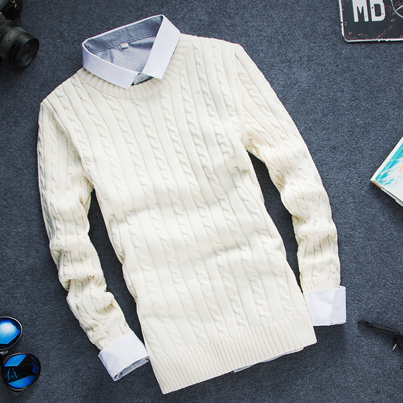 [12 Colors] High Quality Men Pullover 2016 Ny Fashion Round Collar, - Herrkläder - Foto 2