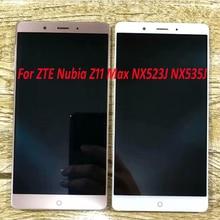% 100% Garanti Çalışma dokunmatik LCD ekran Panel Ekran Digitizer Meclisi Sensörü ZTE Nubia Z11 Max NX523J NX535J Telefon Parçaları