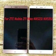شاشة عرض تعمل باللمس LCD بضمان 100% ، مستشعر تجميع المحول الرقمي لأجزاء الهاتف ZTE Nubia Z11 Max NX523J NX535J
