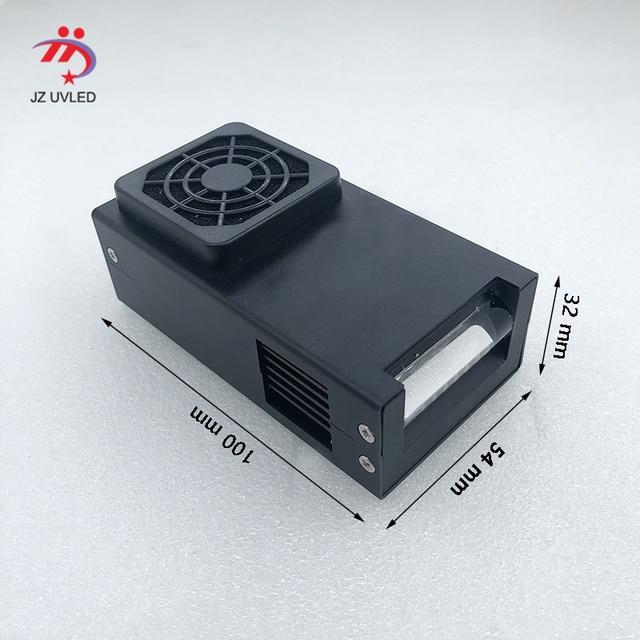 مروحة التبريد الصغيرة الأشعة فوق البنفسجية امب 39nm الخطي LED علاج جهاز ل DX5 الأشعة فوق البنفسجية طابعة مسطحة الحبر علاج الأشعة فوق البنفسجية LED هلام علاج 36nm اختيار