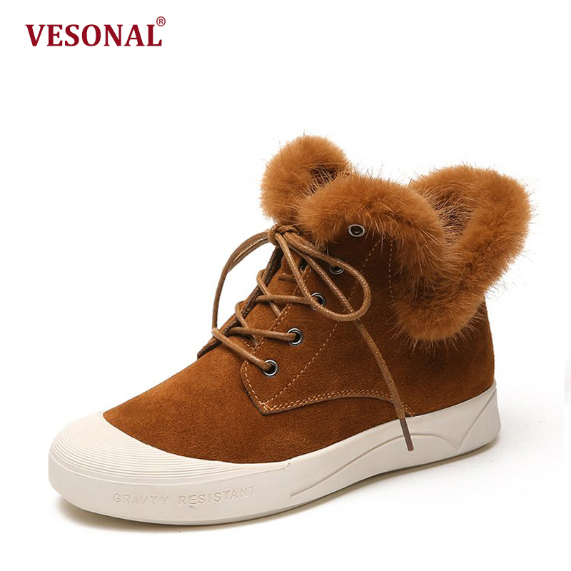 VESONAL Brand Faux Fur Women Shoes Flats 2017 Winter Warm Velvet Female Fashion Ladies Woman Sneakers Casual Footwear TSJ-189 vesonal brand faux fur women shoes flats 2017 winter warm velvet female fashion ladies woman sneakers casual footwear tsj 189