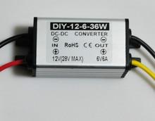 12V24V(9V-28V) Step Down 6V 6A DC-DC Converter Module Buck Power Converter Car Supply adapter Voltage Regulator Waterproof