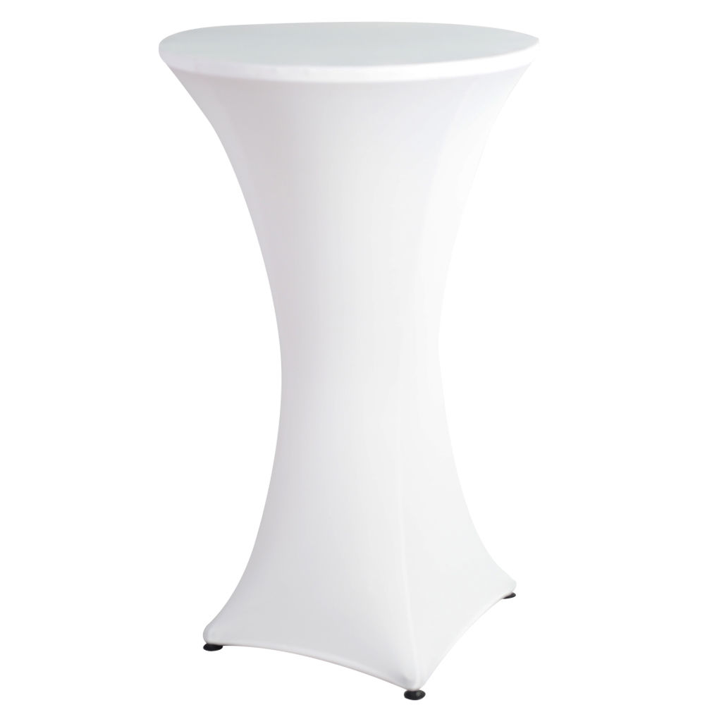 White/Black Round Based Stretch Bar Cocktail Lycra Dry Bar