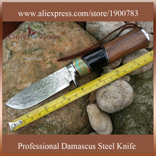 DT089 damascus blade knife incense wood handle camping knife hunting man gift knife cs knives