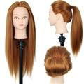 Новинка. манекен-голова с волосами 24 дюйма, для начинающих парикмахеров, моделирования причесок и пр. Синтетические волосы.