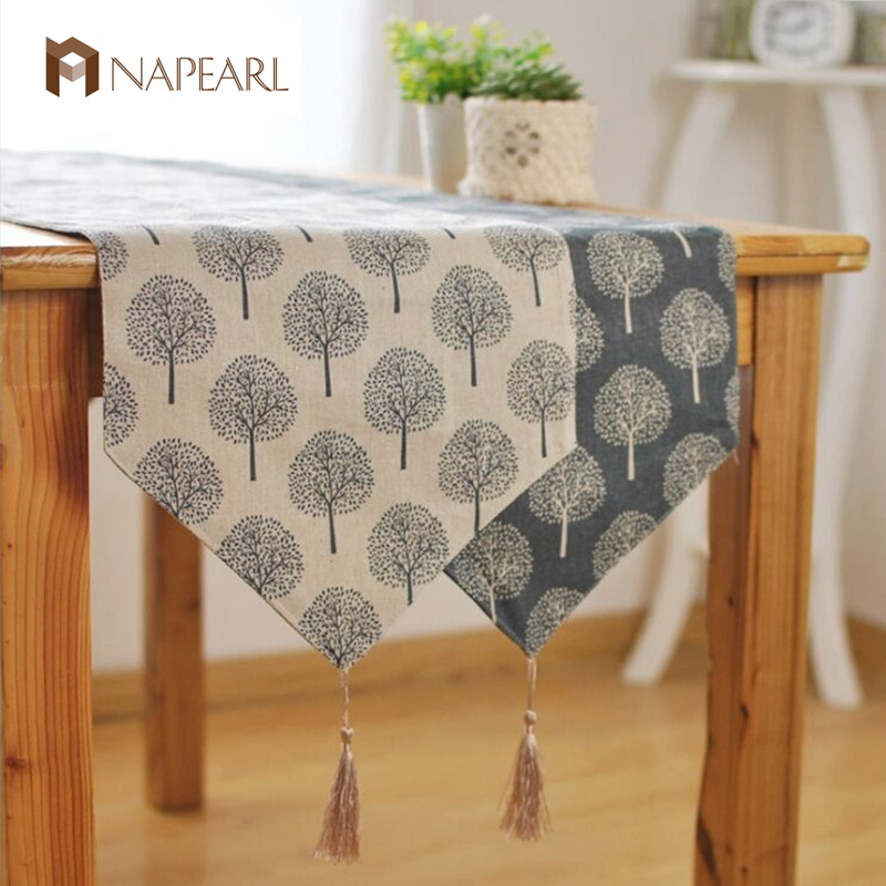 Factory direct foreign trade table runner Kung Fu tea bed seats flag Zen tea towels trees pattern table linens