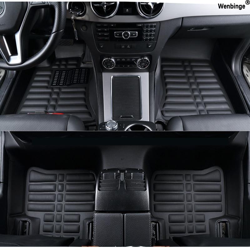 Custom car floor mats for Cadillac SLS ATSL CTS XTS SRX CT6 ATS Escalade auto accessories car styling auto mats коврики для автомобиля ai teka xts atsl sls cts srx ats 1