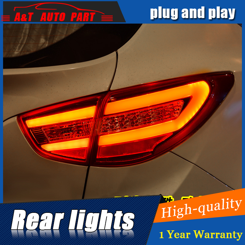 Car Styling LED Tail Lamp for Hyundai ix35 Tail Lights 2013-2016 for ix35 Rear Light DRL+Turn Signal+Brake+Reverse LED light for vw volkswagen polo mk5 6r hatchback 2010 2015 car rear lights covers led drl turn signals brake reverse tail decoration
