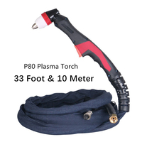 33 Foot & 10 Meter NEW P80 Plasma Torch Plasma Cutter/cutting Machine Accessories Torch/Gun Complete/Air Cooled 100A 120A