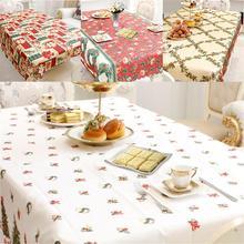 Christmas Decor Fabric Art Tablecloth Table Runner Tea Rectangular Printed Innovative Kitchen Decoration