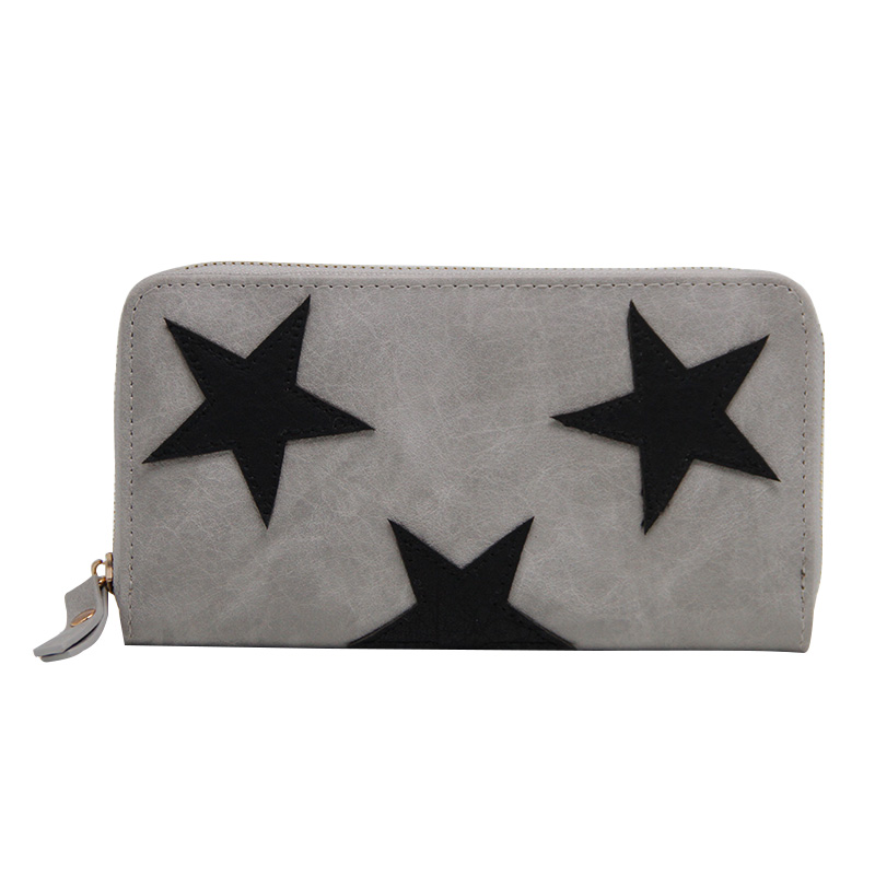 Fashion Women Star Wallets Long Purse Zipper Large Capacity Bags Ladies Coin Purse Money Phone Bag Card Holder Clutch Wallet  bvlriga women wallets famous brand leather purse wallet designer high quality long zipper money clip large capacity cions bags