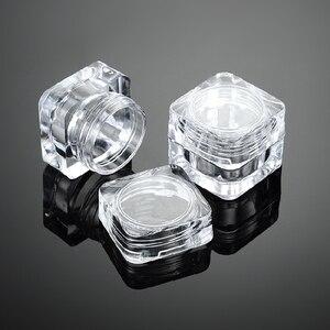 Image 4 - 50 sztuk 5G kosmetyczne pusty słoik Pot Eyeshadow pojemnik na krem do twarzy butelka akrylowa do kremów produkty do pielęgnacji skóry przybory do makijażu