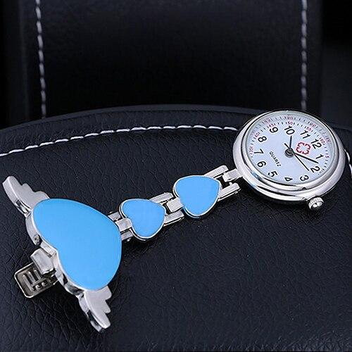 Купить с кэшбэком Women Watches Women Lady Cute Love Heart Quartz Clip-on Fob Brooch Nurse Pocket Watch Dropshipping