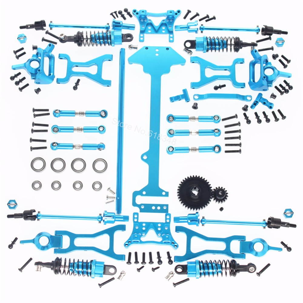1 Set Wltoys A979 Complete Upgrade Kit For RC 1/18th Scale 4WD Electric RTR Monster Truck Off-road Car Metal Accessories wltoys k969 1 28 2 4g 4wd electric rc car 30kmh rtr version high speed drift car