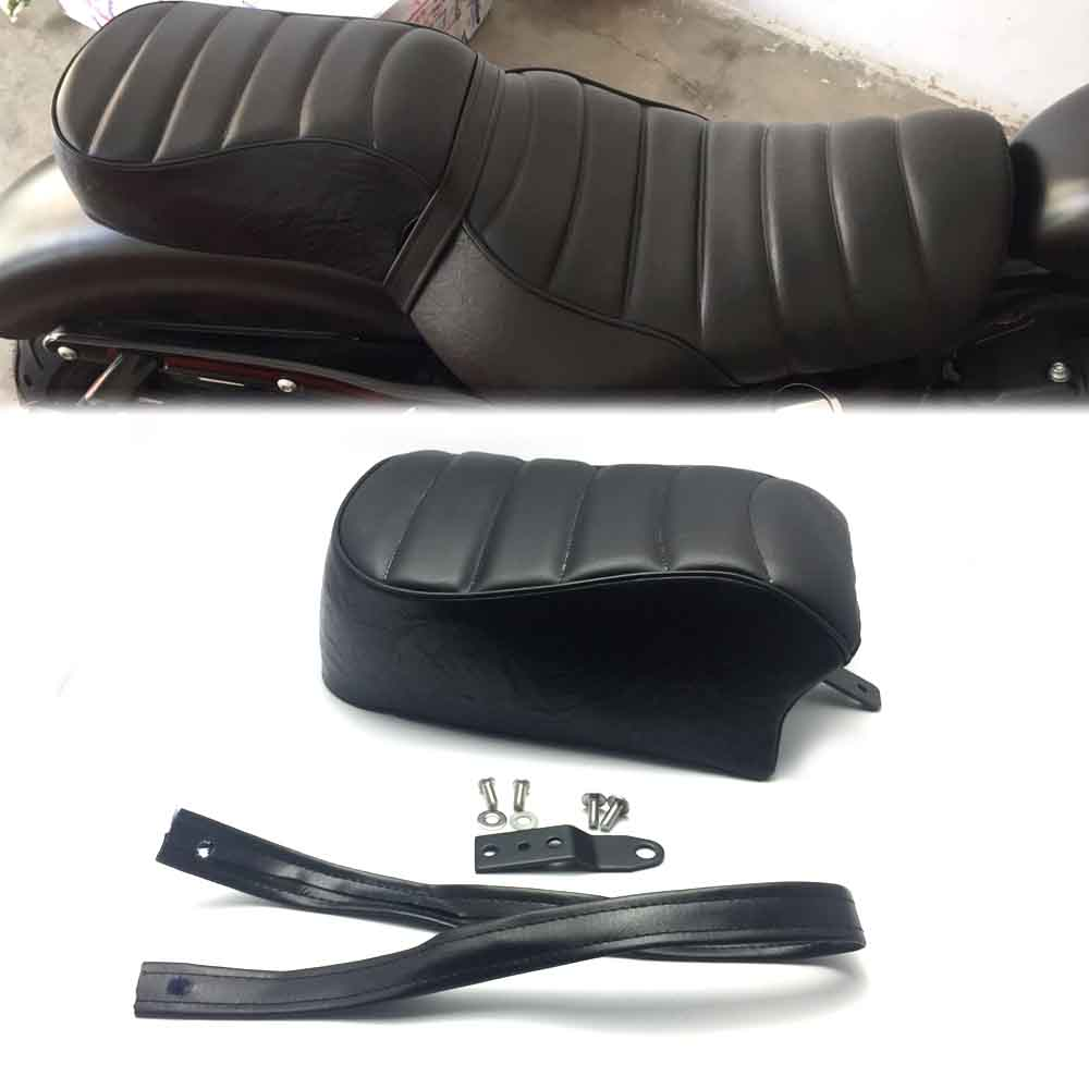 Leather Motorcycle Rear Passenger <font><b>Seat</b></font> Pillion Cushion for Harley Sportster <font><b>Iron</b></font> <font><b>883</b></font> XL883N 2016-2019 <font><b>Iron</b></font> 1200 XL1200NS 18-19 image