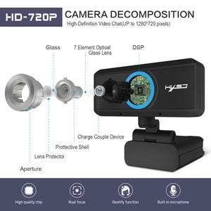Image 2 - HXSJ USB Web Camera 720P HD 1MP Del Computer Webcam Della Macchina Fotografica Built in fonoassorbente Microfono 1280*720 dinamica Risoluzione PC
