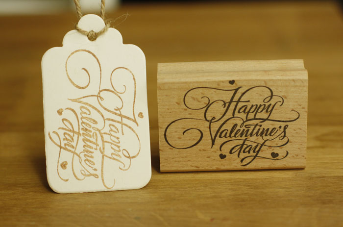 Free shipping Happy Valentines Day rubber wood stamp for card diry scrapbooking stamp 7*5cm