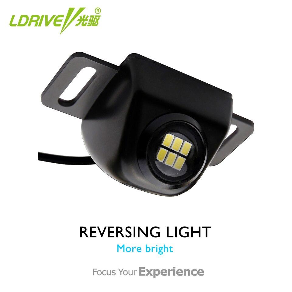 Revers 5W Carro Desonestos Lente do DIODO EMISSOR de Luz Ultra Brilhante de Alta Potência Olho Elétrico Auxiliar Lâmpada Luz Da Cauda Do Carro Externo para todos os carros 1PCS