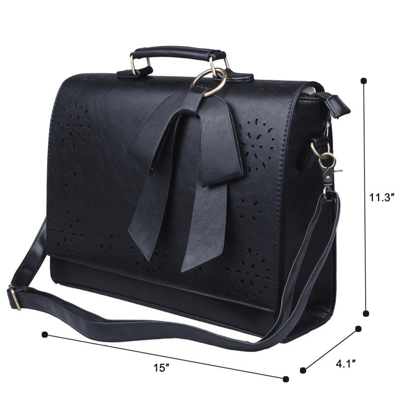 Ecosusi New Women Pu Leather Handbags Vintage Messenger Bags Fashion Shoulder Business Laptop Tote Bag In From